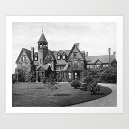 1878 Original Gilded Age Breakers Mansion, Newport, Rhode Island Art Print