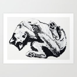 Husky Side UP Art Print