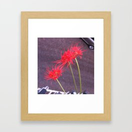 Flowers and the city Framed Art Print