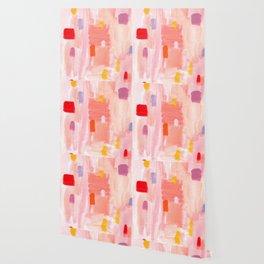 Put Sorrows In A Jar - abstract modern art minimal painting nursery Wallpaper