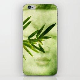 green bamboo iPhone Skin