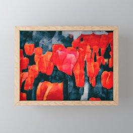 Tulip Field at Night Framed Mini Art Print