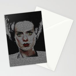 The Bride of Frankenstein Screenplay Print Stationery Cards