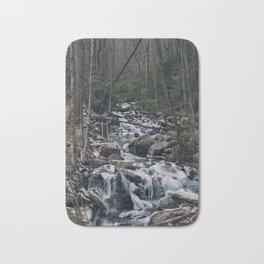 Frozen Stream From Mountain High Bath Mat