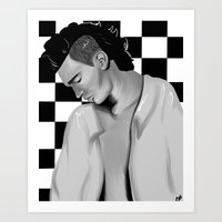 matty healy Art Prints featuring Matty Healy  by carolinemills