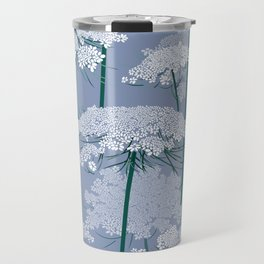 Queen Anne's Lace | Country Blue Travel Mug