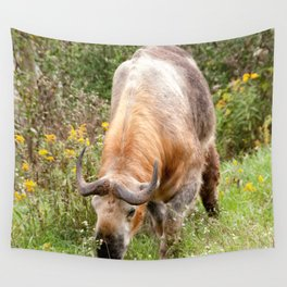 The Endangered Takin Wall Tapestry