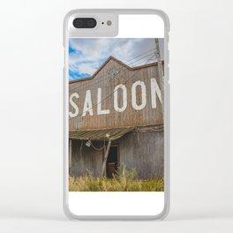 Saloon, Wabek, North Dakota 2 Clear iPhone Case