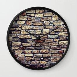 Brick Wall Pattern Wall Clock