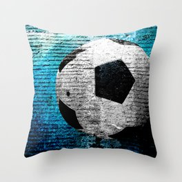 Soccer print variant 2 Throw Pillow