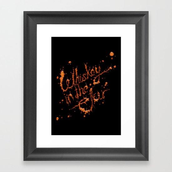 Whiskey in the jar Framed Art Print
