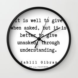 15  | Kahlil Gibran Quotes | 190701 Wall Clock