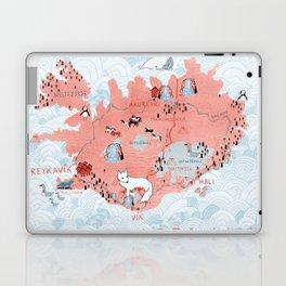 Illustrated Map of Iceland Laptop & iPad Skin