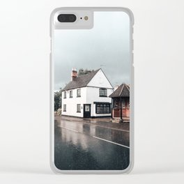 Rain storm in England Clear iPhone Case