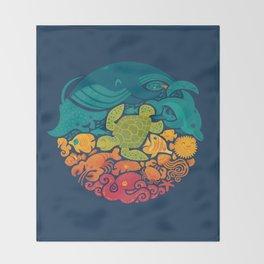 Aquatic Rainbow Throw Blanket