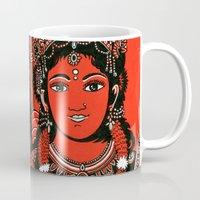 shiva Mugs featuring Shiva Shakti by Anastasia Fomina