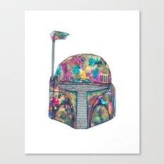 Boba Fett Galaxy Canvas Print