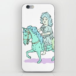 Louis XIV on a horse with no name iPhone Skin