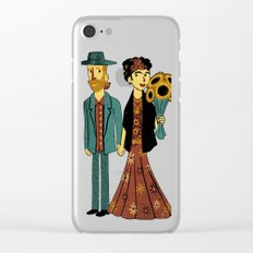 Love is Art Frida Kahlo and Van Gogh Clear iPhone Case