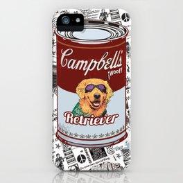 Golden Retriever pop art iPhone Case