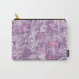 Purple Pink and Mint Marbling Carry-All Pouch