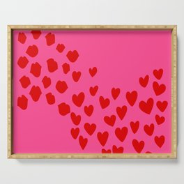 KisseS and HeartS Serving Tray