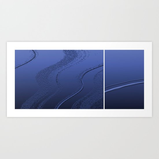 Abstract diptych Blue Art Print