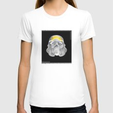 stormtrooper x-ray Womens Fitted Tee White SMALL
