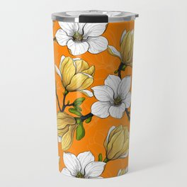 Magnolia garden in yellow   Travel Mug