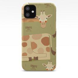Giraffe, African Wildlife iPhone Case