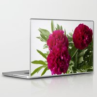 peonies Laptop & iPad Skins featuring Peonies by Arina Lourie