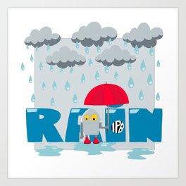 Rain! Art Print