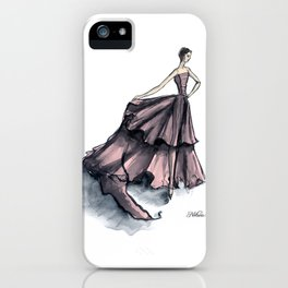 Audrey Hepburn in Pink dress vintage fashion iPhone Case