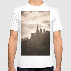 Basilica of Santa Maria la Real of Covadonga White MEDIUM Mens Fitted Tee