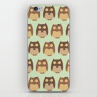 owls iPhone & iPod Skins featuring Owls by sheena hisiro