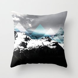 Mountains IV Throw Pillow