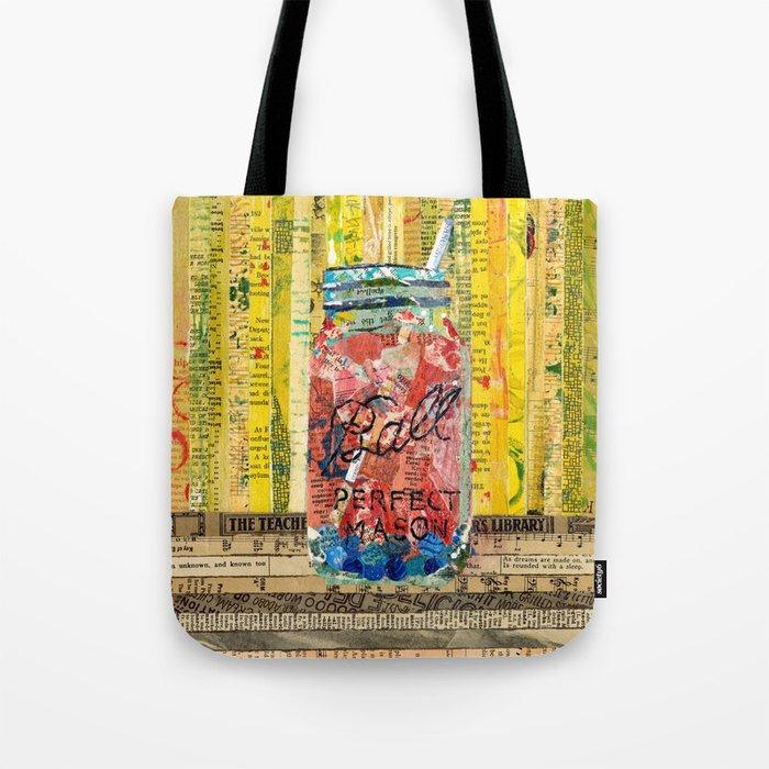 Sangria mason Jar Tote Bag