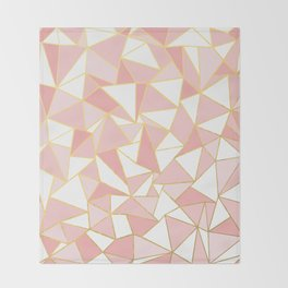 Ab Out Blush Gold 2 Throw Blanket
