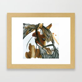 Tea Horse Framed Art Print
