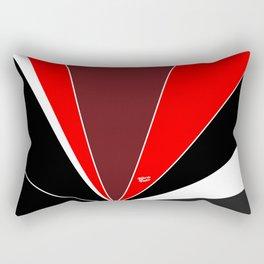 Red Art Deco Abstract #minimal #christmas #design #kirovair #decor #buyart Rectangular Pillow