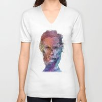 lincoln V-neck T-shirts featuring Zombie Lincoln by Albert F. Montoya