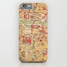 Paris City Centre Map - Vintage Full Color iPhone 6s Slim Case