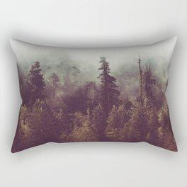 Mountain Morning Mist - Nature Photography Rectangular Pillow