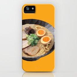 Japanese Tonkotsu Ramen Polygon Art iPhone Case