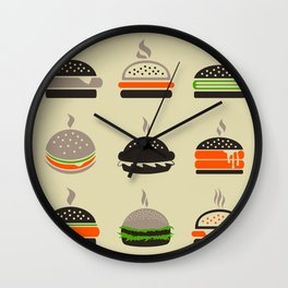 Hamburger2 Wall Clock
