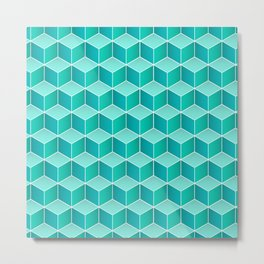 Ocean cubes, a symmetric pattern inspired by the sea. Metal Print