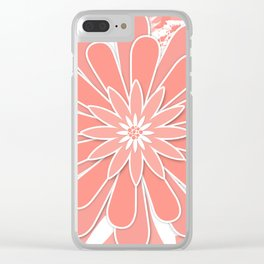 Coral flower . 2 Clear iPhone Case