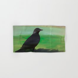 Crow and Feather Hand & Bath Towel