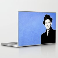 frank sinatra Laptop & iPad Skins featuring Frank Sinatra - My Way - Pop Art by William Cuccio aka WCSmack