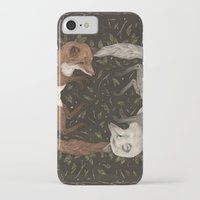 foxes iPhone & iPod Cases featuring Foxes by Jessica Roux